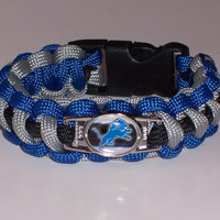 Detroit Lions  Paracord Bracelet Custom Made