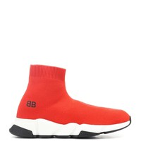 Balenciaga Kids Speed Trainers with two-tone sole Red