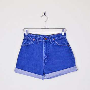 Wrangler Jean Short Blue Denim Short Cut Off Short Cut Off Jean Cutoff Short Cutoff Jean Cuff Short High Waist Short 80s 90s Grunge S Small