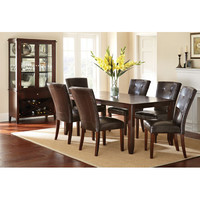 Steve Silver Company MU500T Marcus Dining Table in Espresso with 12-Inch Leaf