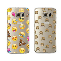 Lovely Funny Emoji monkey For Samsung Galaxy S3 S4 S5 S6 S7 Edge J5 Core Grand Prime Case Silicone Cover Various Expressions
