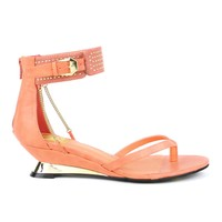 Fahrenheit Nena-01 Short Wedge Sandal in Salmon @ ippolitan.com