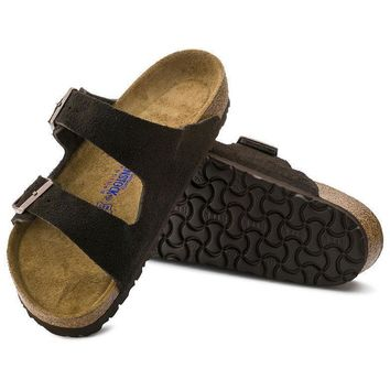 Sale Birkenstock Arizona Soft Footbed Suede Leather Mocha 0951311/0951313 Sandals
