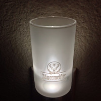XL Frosted Jägermeister Shot Glass Nightlight