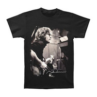 Beatles Men's  Guitar Photo T-shirt Black Rockabilia