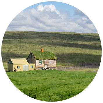 Paul Moore's Abandoned Farm House, Iceland Circle wall decal