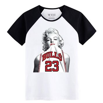 Fashion T-Shirts for teenagers 100% Cotton Innvoation pattern Marilyn Monroe Jordan 23 Mens T-shirts Spring&Summer