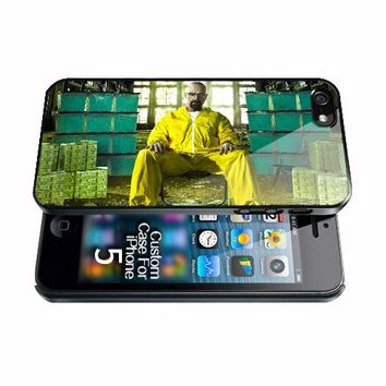 Breaking bad Heisenberg sits between money Apple iphone 5 Case
