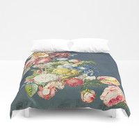 Floral Tribute to Louis McNeice Duvet Cover by anipani