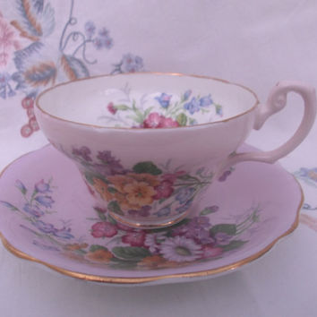 E Brain & Co Foley Cup and Saucer c1950s. Vintage Retro Tea Cup and Saucer Ideal Tea Shop Vintage Wedding