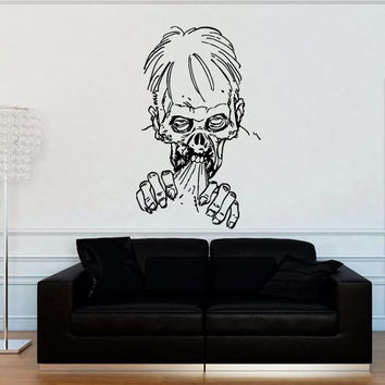 Wall decal decor decals sticker art vnyl design mummy zombie horror skull fear dead myth character corpse Bedroom (m1248)