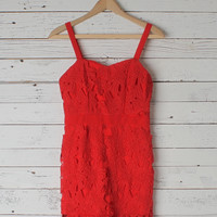 Nicole Red Cocktail Dress