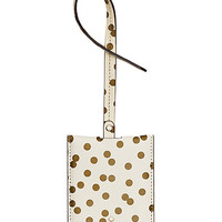 Kate Spade Cedar Street Confetti Dot Luggage Tag Bridal Cream ONE
