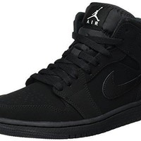 Jordan Mid 1 Black/White-Black jordans black and white