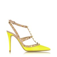 Valentino Rockstud Fluo Leather Slingback Pump