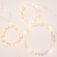 Silver String Lights (Set of 3)
