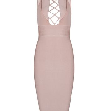 Freya Blush Midi Dress