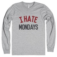 I Hate Mondays Crimson Long Sleeve T-shirt Ide02052028-T-Shirt