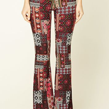 Ornate Print Flared Pants