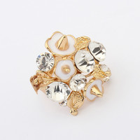 New Arrival Jewelry Shiny Gift Stylish Strong Character Punk Vintage Diamonds Rivet Accessory Ring [4918803076]