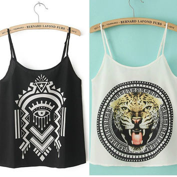 Tribal Chiffon Tank Top = 6092724355