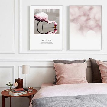Pink Flamingo Abstract Canvas Prints and Wall Art