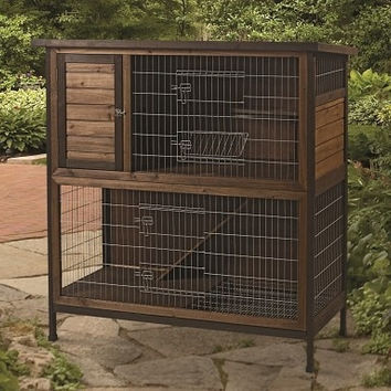 "SMALL ANIMAL - CAGES - RABBIT HUTCH 2 STORY - 48"" - CENTRAL - SUPER PET/PETs INTL - UPC: 45125652710 - DEPT: SMALL ANIMAL PRODUCTS"