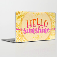 Hello Sunshine Laptop & iPad Skin by Noonday Design
