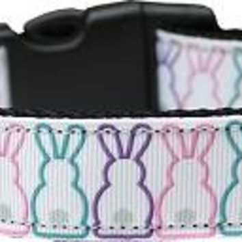 Bunny Tails Nylon Dog Collar Medium