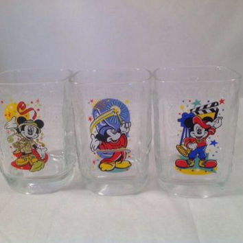 3 Walt Disney World Mickey Mouse McDonalds Tumblers