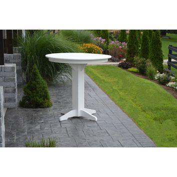 """A & L Furniture Recycled Plastic 44"""" Round Bar Table  - Ships FREE in 5-7 Business days"""