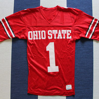 Vintage Champion Ohio State Buckeyes #1 Jersey Size Small 1980s