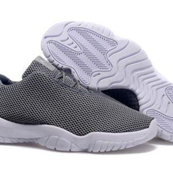 Cheap Air Jordan Future 11 Low Grey White Shoes