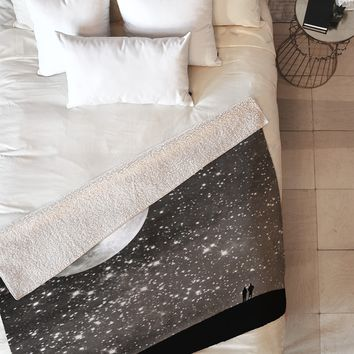 Shannon Clark Love Under The Stars Fleece Throw Blanket