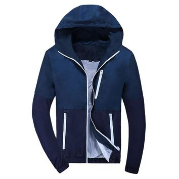 Jacket Thin Hoodie Mens Windbreaker Fashion Men Women Spring Autumn Jacket Coats Couple Clothes Hombre 2018