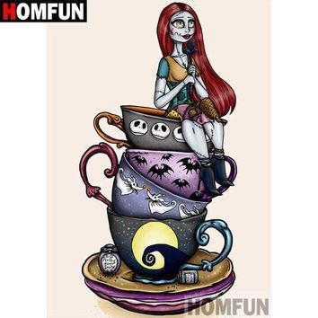 5D Diamond Painting Teacup Sally from Nightmare Before Christmas Kit