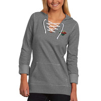 Minnesota Wild Antigua Women's Hustle Lace-Up Hoodie – Forest Green