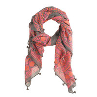 Pre-Order Floral diamonds scarf - scarves & hats - Women's accessories - J.Crew