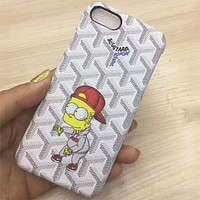 Simpson iphone6s mobile phone shell tide brand iphone7plus couple protector Light grey