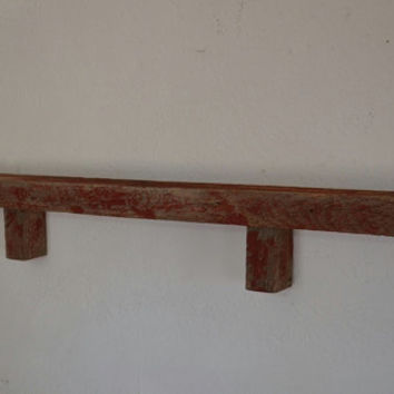 "Shabby chic eco friendly wall shelf 39"" wide 4"" deep"