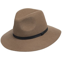Aster Wool Felt Floppy Brim Fedora Hat for Fall and Winter TAWNY BROWN 6 7/8