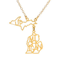 Michigan with UP Necklace