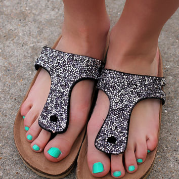 Diamond in the Rough Sandal - Black