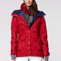 Roxy KJ Tribe Jacket - Womens Sweaters - Red