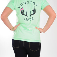 Country Made Antler Shirt: Mint | Hope's