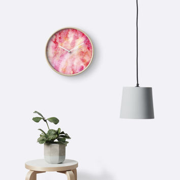 'Pink Deep Space' Clock by PeaceLuvJoy
