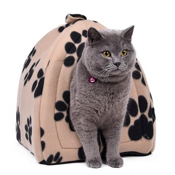 Shop Crazy Cat House with Paw Stripe Print
