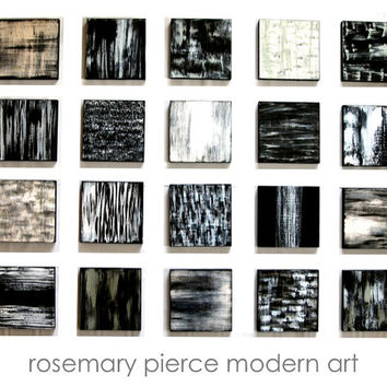 Black and White Art | Wall Sculpture | Wood Wall Art | Abstract Painting | Modern Wall Decor | Rosemary Pierce SKU#PB33001