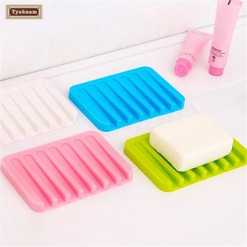 Bathroom Soap Dish Silicone, Dish Tray, Water Drainer Soap, Plate Holder Top Casual Stop Mushy Soap, Box Saver, Soap Holder Rack
