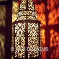 MOROCCAN BRASS LANTERN - HIGH END PENDANT Light : Tazi Designs